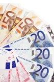 Notas euro Fotos de archivo libres de regalías