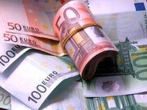 Notas euro Imagen de archivo libre de regalías