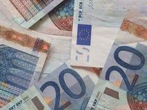 20 notas euro Fotos de archivo