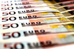 50 notas euro Fotos de archivo