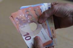 Notas euro de la moneda Fotografía de archivo libre de regalías