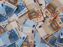 Notas euro del EUR, UE de la unión europea Imágenes de archivo libres de regalías