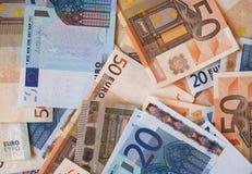 Notas euro del EUR, UE de la unión europea Foto de archivo