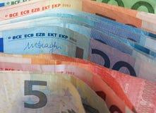 Notas euro del EUR, UE de la unión europea Fotografía de archivo libre de regalías