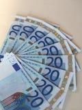Notas euro del EUR, UE de la unión europea Fotografía de archivo