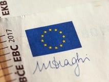 Notas euro, unión europea Imagen de archivo