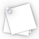 Notas fixadas Fotografia de Stock