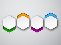 Notas hexagonales blancas de papel stock de ilustración