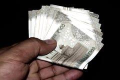 500 notas indianas da moeda imagens de stock
