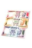 Notas indianas da moeda Fotografia de Stock