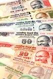 Notas indias de la moneda Fotografía de archivo