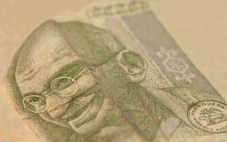 Notas indias de la rupia de la moneda Imágenes de archivo libres de regalías