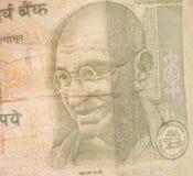 Notas indias de la rupia de la moneda Imagenes de archivo