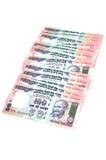 Notas indias del dinero en circulación Imagenes de archivo