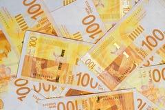 Notas israelíes del dinero Fotografía de archivo