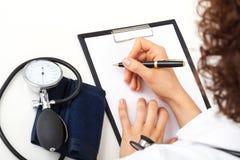 Notas médicas Imagen de archivo libre de regalías