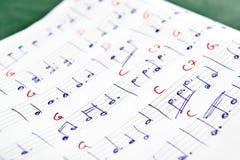Notas musicais Fotografia de Stock Royalty Free