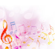 Notas musicais Fotos de Stock Royalty Free