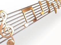 Notas musicais. ilustração stock