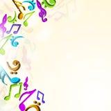 Notas musicais coloridas Foto de Stock