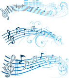 Notas musicais do vetor Fotos de Stock