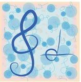 Notas musicais do vetor. Estilo da garatuja Imagens de Stock