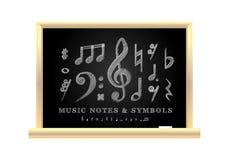 Notas musicais escritas à mão Fotos de Stock