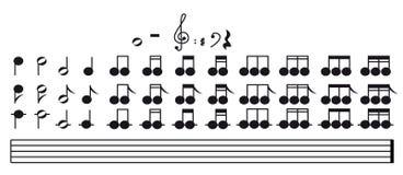 Notas musicais - imagem do vetor Fotos de Stock