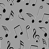 Notas musicais na cor preto e branco Fotografia de Stock Royalty Free