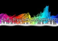 Notas musicais na fita do espectro Imagens de Stock
