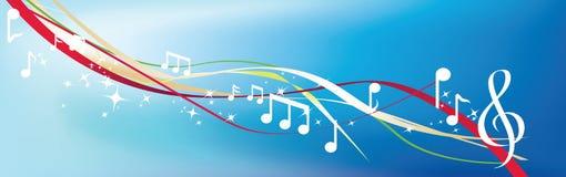 Notas musicais no azul Imagem de Stock