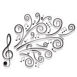 Notas musicais. Fotografia de Stock