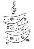 Notas musicais. Imagem de Stock