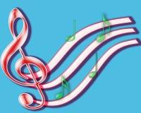 Notas musicales. Imagen de archivo libre de regalías