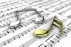 Notas musicales Fotos de archivo libres de regalías