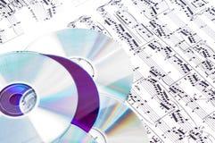 Notas musicales Imagen de archivo