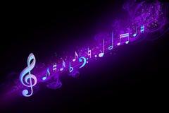 Notas musicales Fotografía de archivo