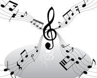 Notas musicales Foto de archivo libre de regalías