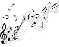 Notas musicales Fotos de archivo