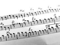 Notas musicales Imagen de archivo libre de regalías