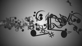 Notas musicales stock de ilustración