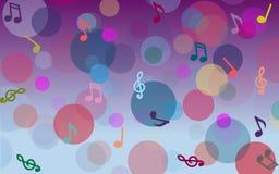 Notas musicales abstractas Imagen de archivo libre de regalías