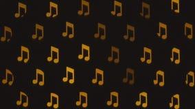 Notas musicales abstractas borrosas Fondo musical