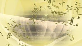 Notas musicales abstractas que colocan el fondo del movimiento stock de ilustración