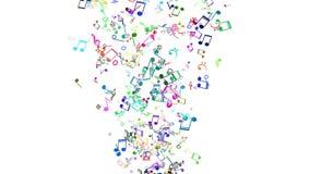 Notas musicales coloridas stock de ilustración