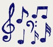Notas musicales del vector Imagenes de archivo