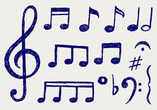 Notas musicales del vector Foto de archivo libre de regalías