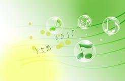 Notas musicales hermosas Imagen de archivo libre de regalías