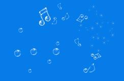 Notas musicales hermosas stock de ilustración