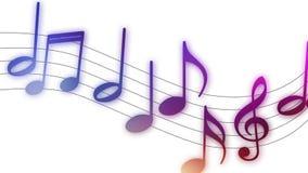 Notas musicales que vuelan sobre el fondo blanco libre illustration